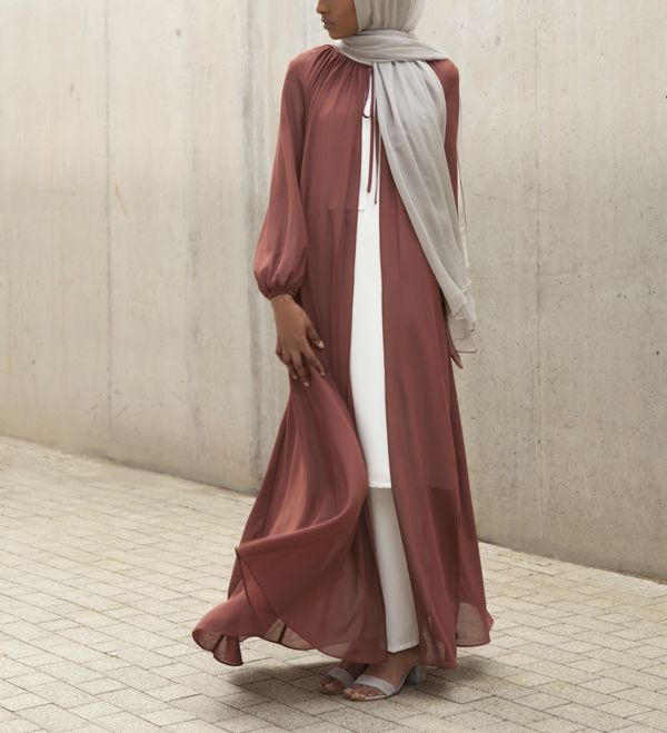 Rust Tie Neck Kimono - £37.90 : Inayah, Islamic Clothing & Fashion, Abayas, Jilbabs, Hijabs, Jalabiyas & Hijab Pins
