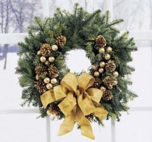 couronne classique - wreath on a wreath