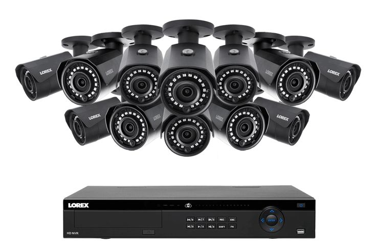 2K IP Security Camera System with 16 Channel NVR and 12 Outdoor 2K 4MP IP Cameras, Color Night Vision | Lorex