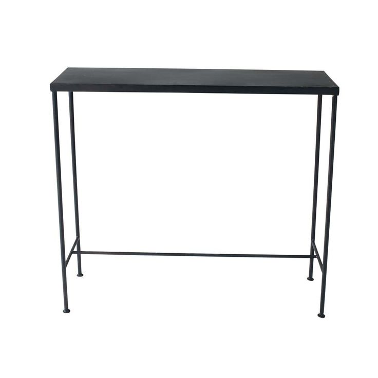 Metal industrial console table in black W 90cm Edison
