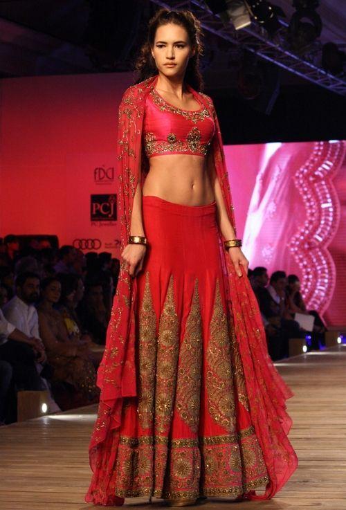 Anamika Khanna #saree #indian wedding #fashion #style #bride #bridal party #brides maids #gorgeous #sexy #vibrant #elegant #blouse #choli #jewelry #bangles #lehenga #desi style #shaadi #designer #outfit #inspired #beautiful #must-have's #india #bollywood #south asain