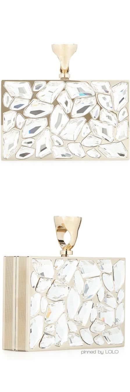 + tom ford, crystal brass ring clutch