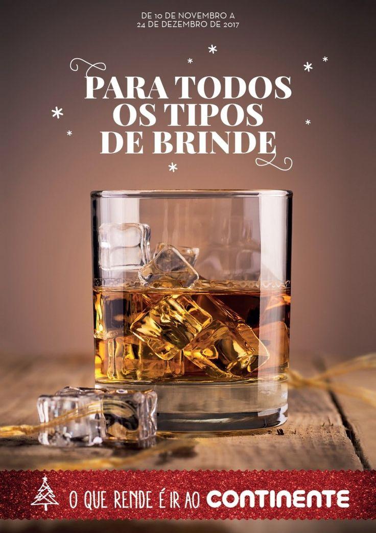 Folheto #Continente vinhos e bebidas espirituosas em vigor até 24 de Dezembro. Para todos os tipos de brinde.