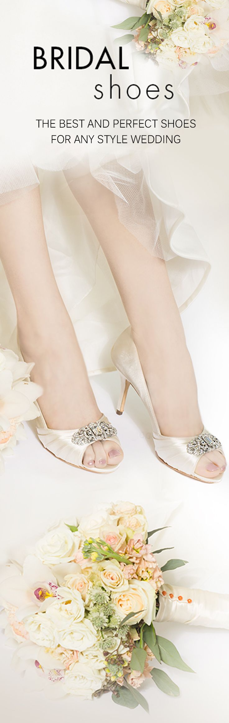 Bridal Shoes, we have your perfect shoe! Closed toe? Open Toe? Peep Toe? All heel heights