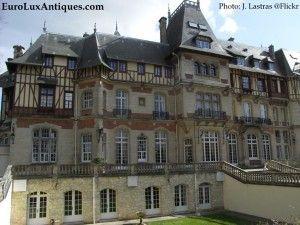 Chateau de Montvillargenne French castle hotel in Chantilly near Paris. EuroLuxAntiques.com