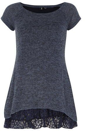Izabel London Blue Tunic Top
