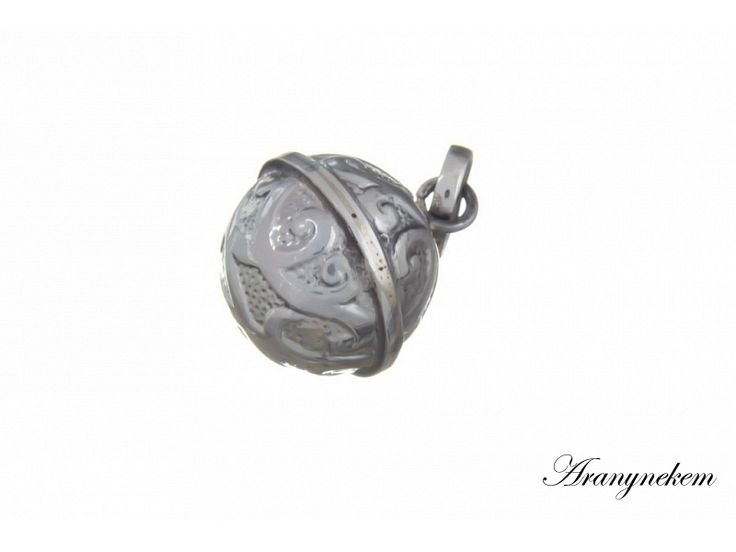 Csilingelő angyalhívó antikolt ezüst medál