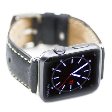 Kajsa 38mm Slim Vintage Watchband Genuine Leather Strap Watch Band Wristband For Apple Watch Sale - Banggood.com