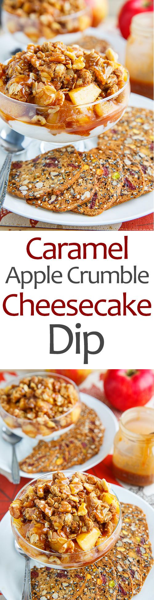 Caramel apple crumble, Cheesecake dip and Caramel apples on Pinterest