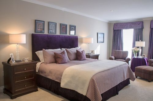 Prepossessing Purple And Cream Bedroom Ideas Photography Fresh At Window  Set For Purple