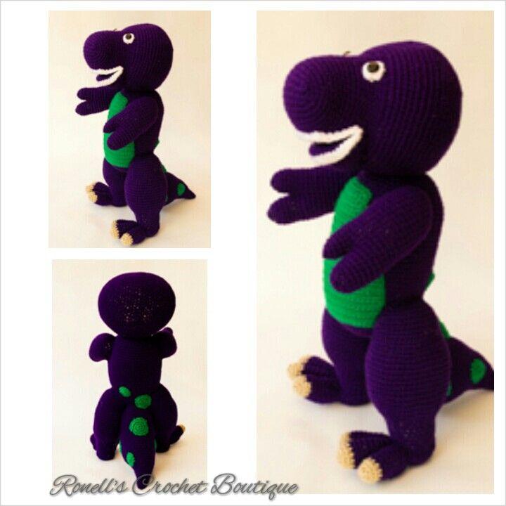 Crochet Barney the Dinosaur https://www.facebook.com/crochetboutiqe   http://www.ravelry.com/patterns/library/berney-the-rex