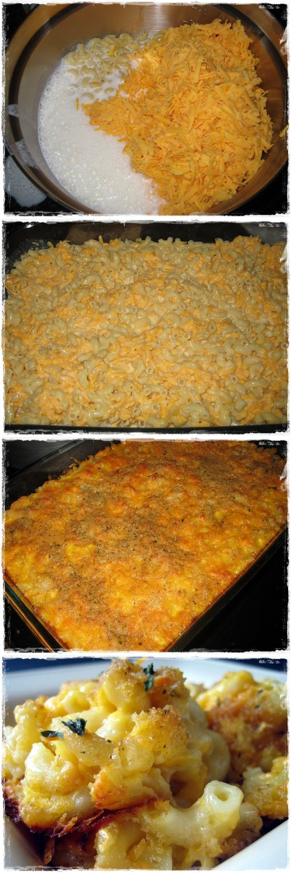 This was so EASY!! I used 1 cup of milk and 1 cup of heavy cream...just because :-) The entire 9 x 13 pan was gone in one sitting. Next time I may add tuna & peas for a casserole. (Baked Macaroni-n-Cheese, no Roux)
