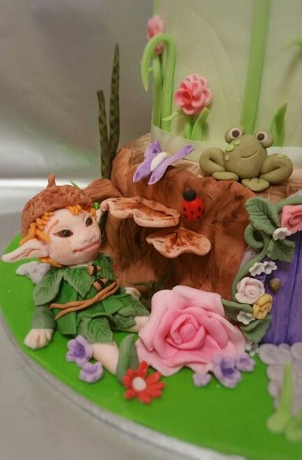 Fairy elf cake fondant topper
