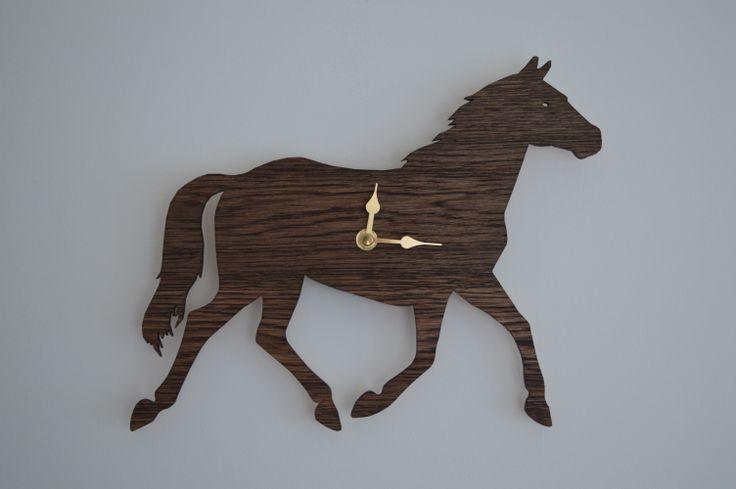 Laser cut Horse clock