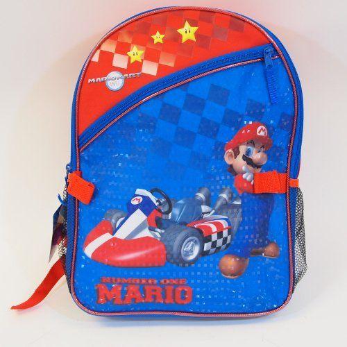 Nintendo Mario Kart Boys 16 School Backpack Bag *** Visit the image link more details.