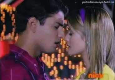 Imagenes animadas de parejas de novios besandose