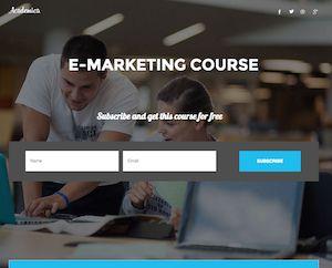 Academica - Unbounce Landing Page Template | TemplateSparkle