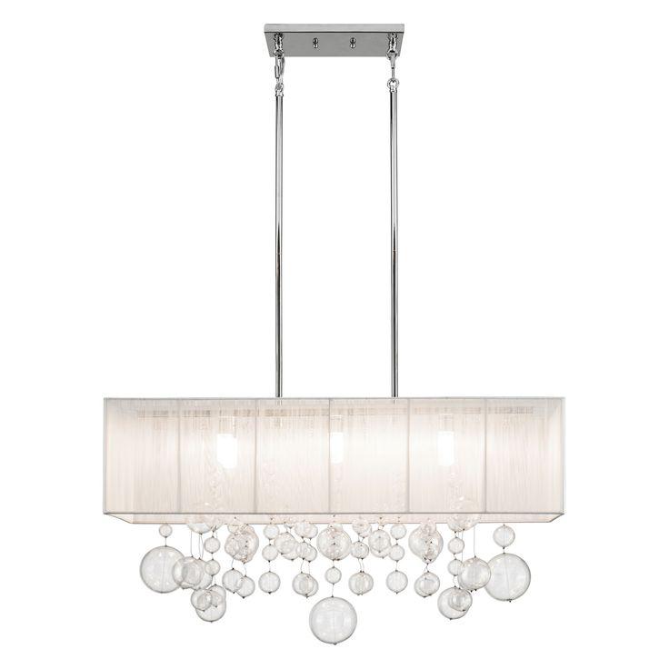 Best 25 rectangular pendant light ideas on pinterest dining elan imbuia chrome six light chandelier rectangular pendant aloadofball Images