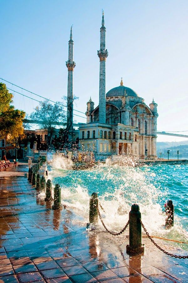 Ortakoy Mosque, Istanbul Turkey. Get student discounts on your travels at http://studentrate.com/Travel-Discounts