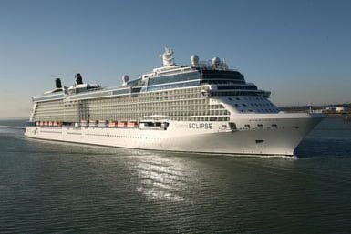 Celebrity Eclipse cruise ship at sea