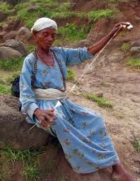 Hand spinning in Ethiopia