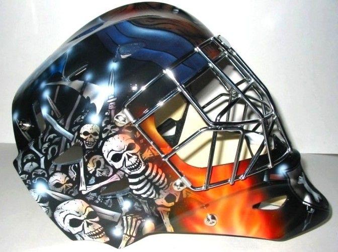 Custom Airbrush Your Goalie Helmet Etsy Custom Airbrushing Goalie Mask Goalie