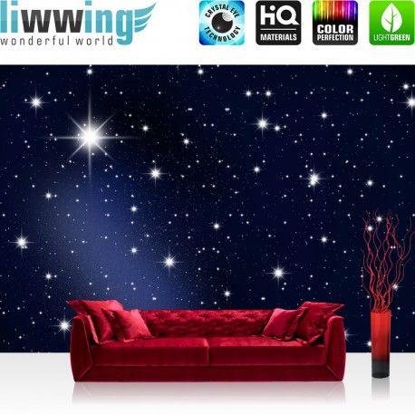 Fancy Vlies Fototapete A Million Stars Sternenhimmel Tapete Stars Sterne Leuchtsterne Nachthimmel blau