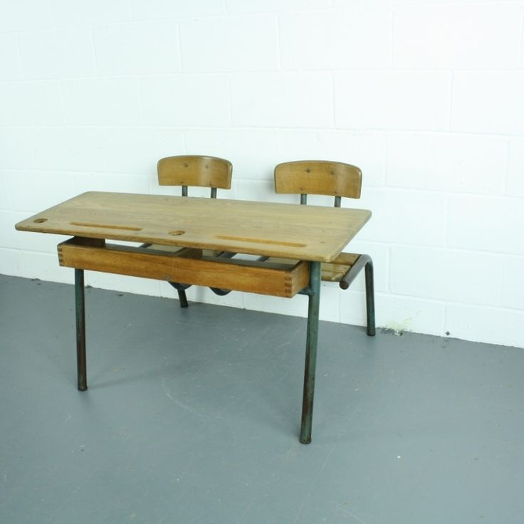 Vintage French Childrens Double Desk