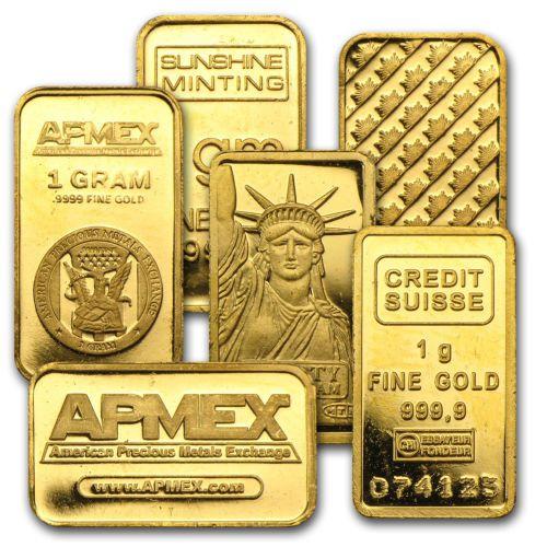 1 gram Gold Bar - Secondary Market - Various Condition - SKU #12477. Deal Price: $53.53. List Price: $59.54. Visit http://dealtodeals.com/gram-gold-bar-secondary-market-condition-sku/d19176/coins-paper-money/c195/