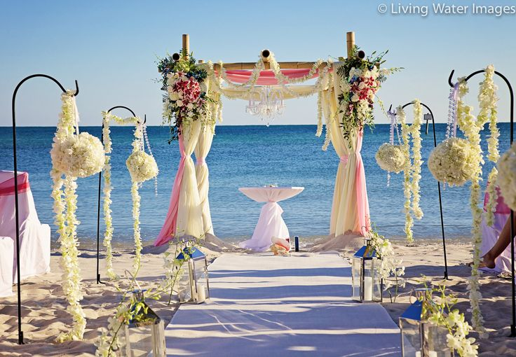 Ceremony By Say Yes In Key West On Smathers Beach, Floral
