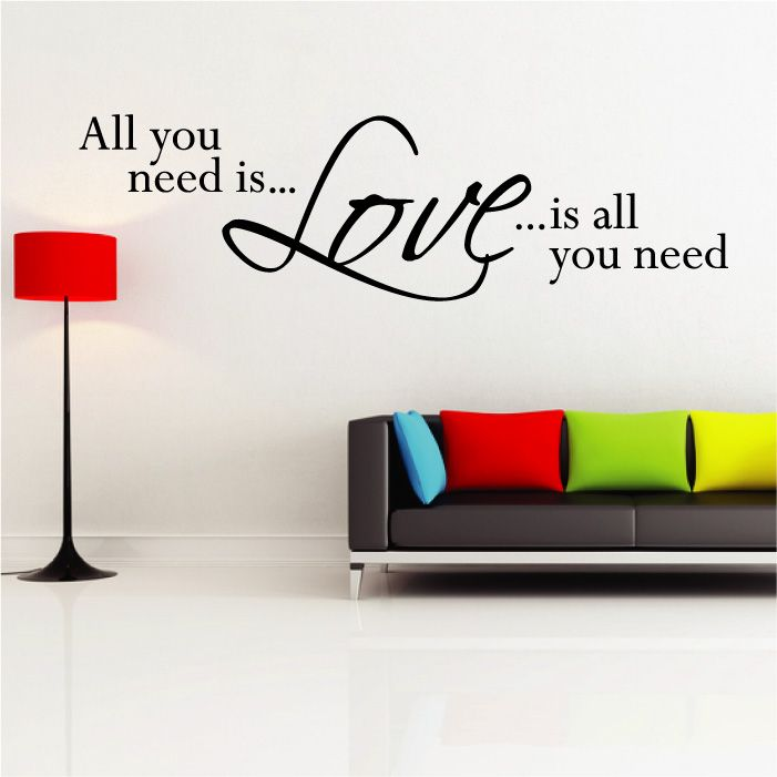 Merveilleux Home Gallery Wall Sticker Quotes U0026 Words Need Love Wall Quote Sticker