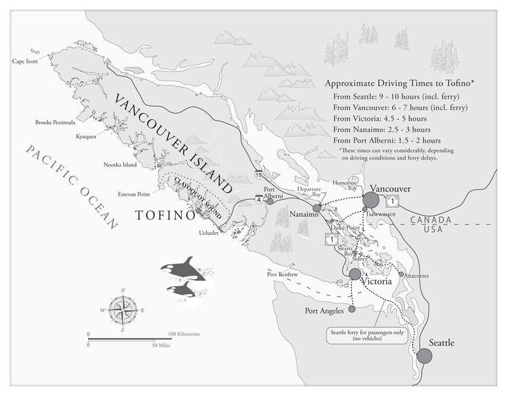 Tofino Travel Directions Map