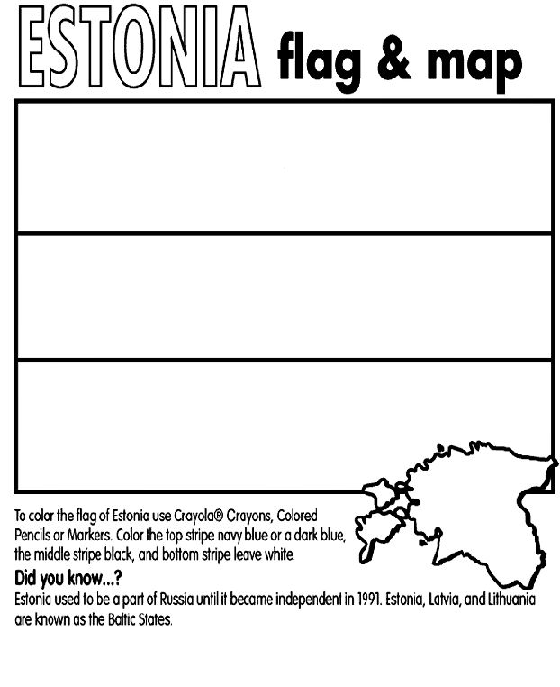 Use CrayolaR Crayons Colored Pencils Or Markers To Color The Flag Of Estonia