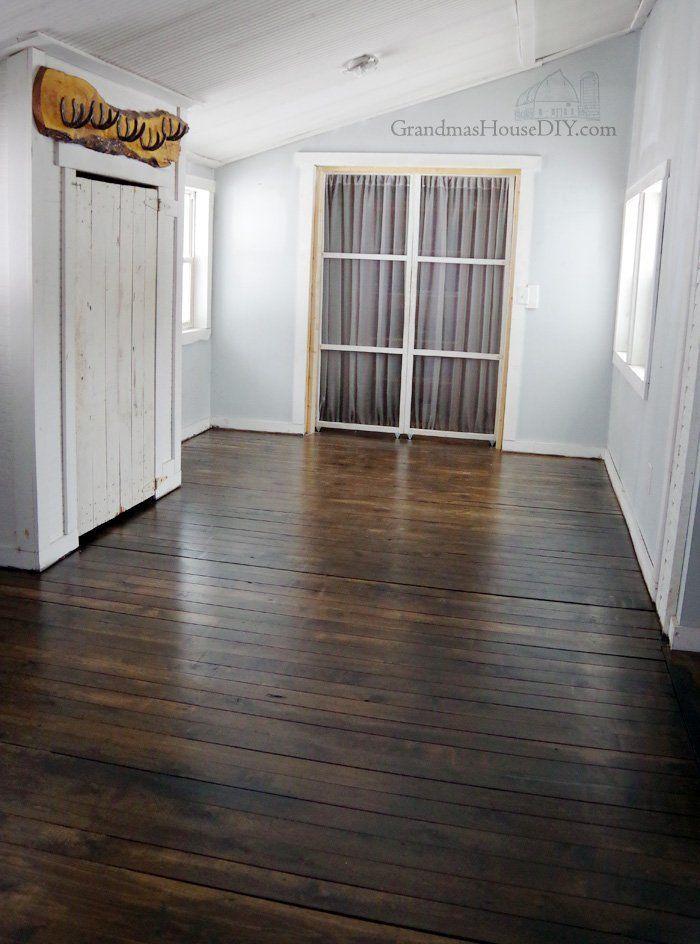 Inexpensive Wood Floor That Looks Like A Million Dollars Four Years Later Diy Wood Floors Flooring Wood Floors