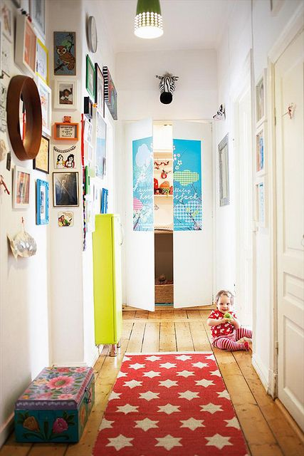 hallway by baby space interiors, via Flickr