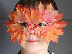 Máscara de hojas en Decoracion y detalles para las fiestas de bebés, niños y niñas