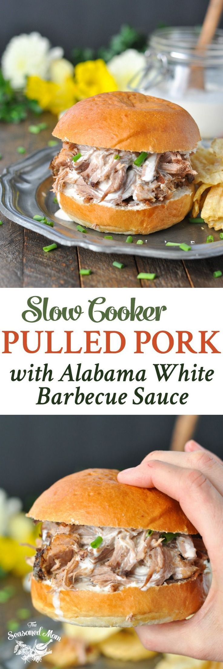 Slow Cooker Pulled Pork with Alabama White Barbecue Sauce