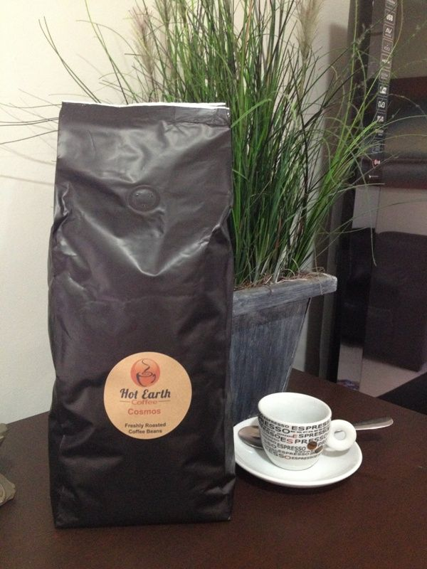 Now relax with Hot Earth Coffee - Freshly roasted flavoursome blend