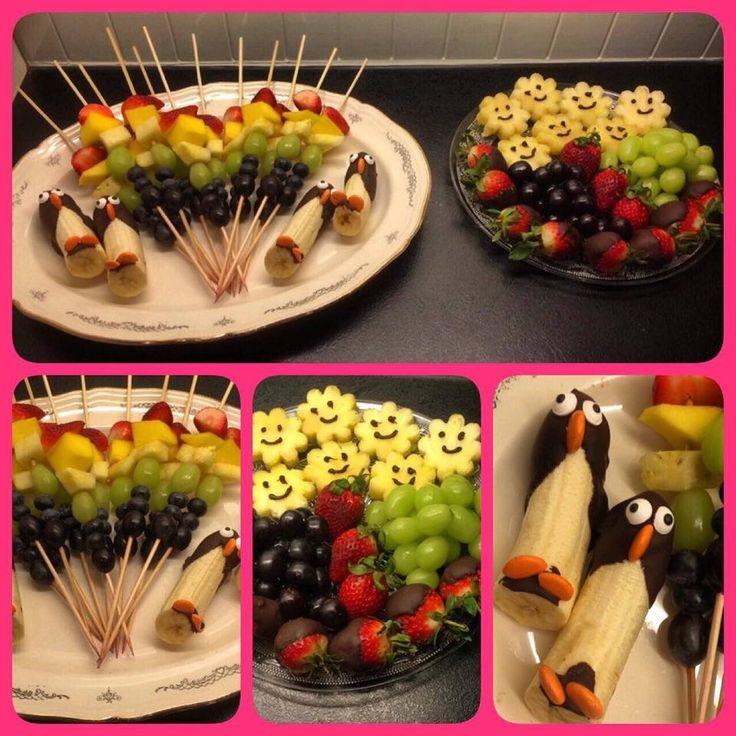 chocolate penguin bananas healthy snacks for kids birthdayfood