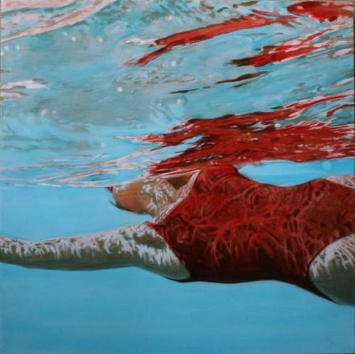 "Carol Bennett   |   ""Supsense ""  36 x 36   |   Oil on Panel   |   $12,500  Eisenhauer Gallery"