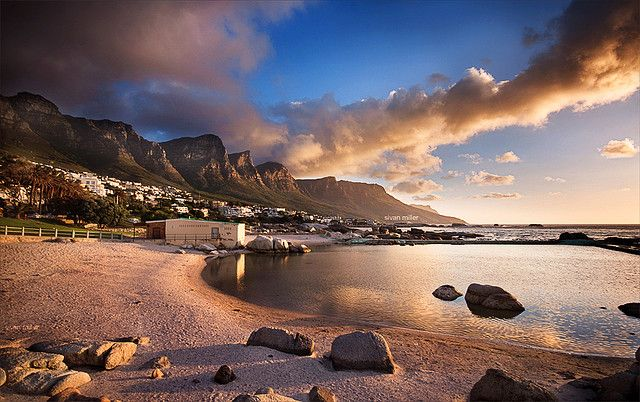 Camps Bay, South Africa..ahhhh  ~ our friends lived here on the hillside at the time of our visit -we walked this beautiful beach