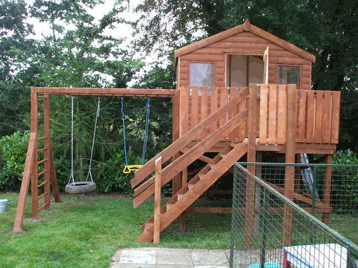 Kids tree houses tree houses play houses tree house for Treeless treehouse