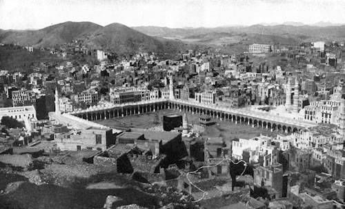 Kaaba, 1917 - what a transformation the surrounding area has gone through!