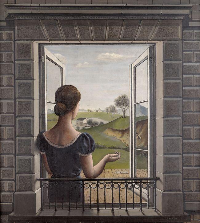 Paul Delvaux, La Fenêtre, 1936, huile sur toile, 110 x 100 cm