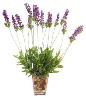 "18"" Lavender in Square Vase, Faux; OneKings Lane; approx. $60"