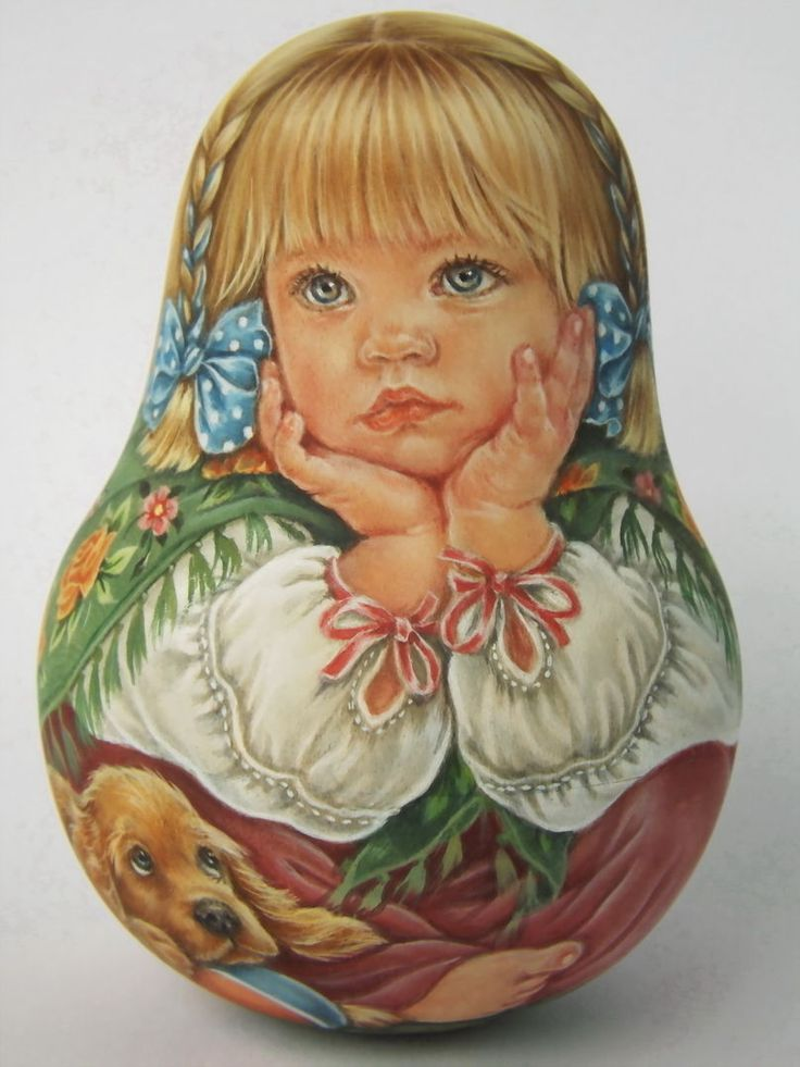 My Author's 1 Kind Russian Roly Poly Nesting Matryoshkas Dolls Artist Usachova | eBay