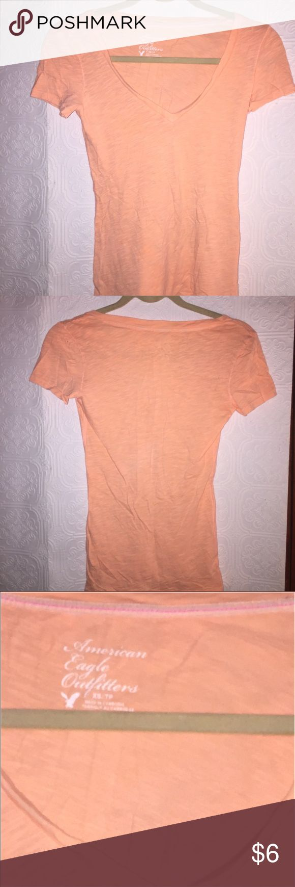 American Eagle Outfitters tee Light orange tee. Very light material. Comfortable ‼️ American Eagle Outfitters Tops Tees - Short Sleeve