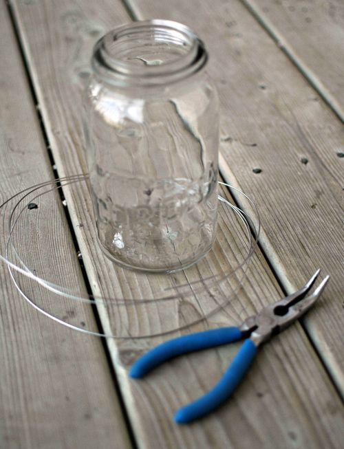 How to make hanging mason jar pew decorations... Easy!