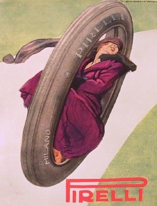 Vintage Italian Posters ~ #Vintage #Italian #posters ~ Marcello Dudovich, Pirelli.