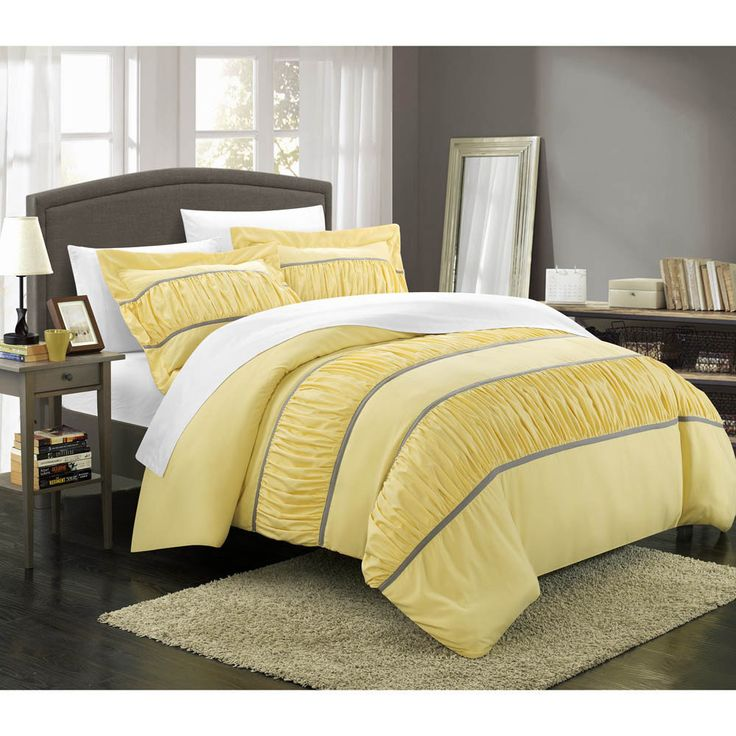 Chic Home Elizabeth Pleated And Ruffled 3 Piece Duvet Cover Set By Chic Home Great Ideas